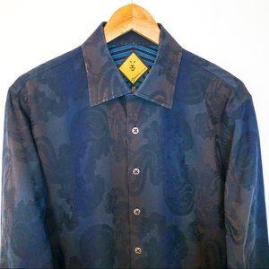 Biedermann Men Size L Shirt Paisleys Pattern